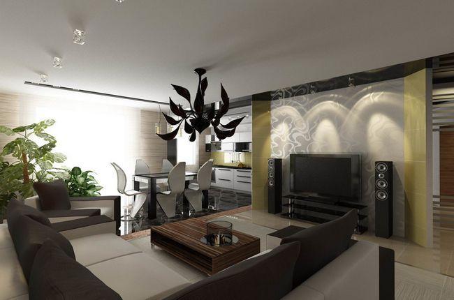 Фото - Оптимальні варіанти дизайну їдальнею вітальні