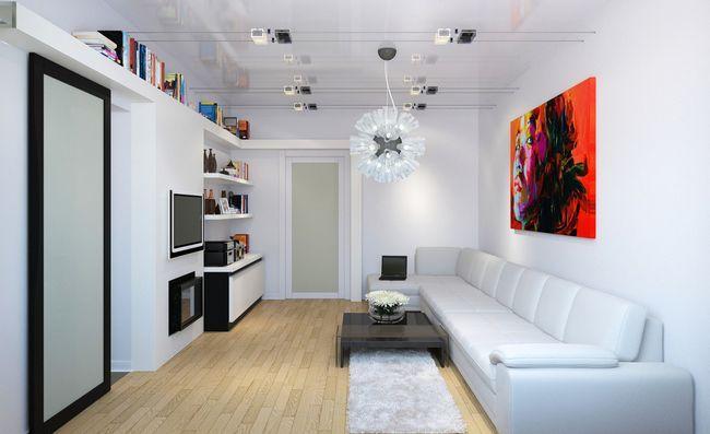 Фото - Оригінальний дизайн вітальні 14 кв.м