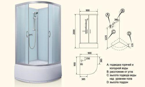 Фото - Головний блок душової кабіни