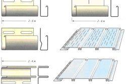 Схема монтажу сайдингу на стелю.
