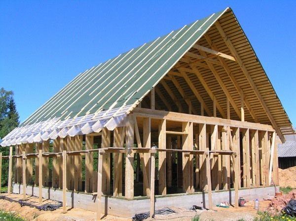 Фото - Основні етапи будівництва каркасного будинку.