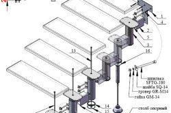 Схема пристрою гвинтових сходів
