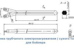 Схема трубчастого електронагрівача