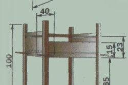 Схема розмірів мангала з металу