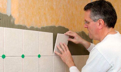Монтаж плитки на стіну
