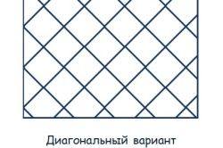 Схема діагональної укладання