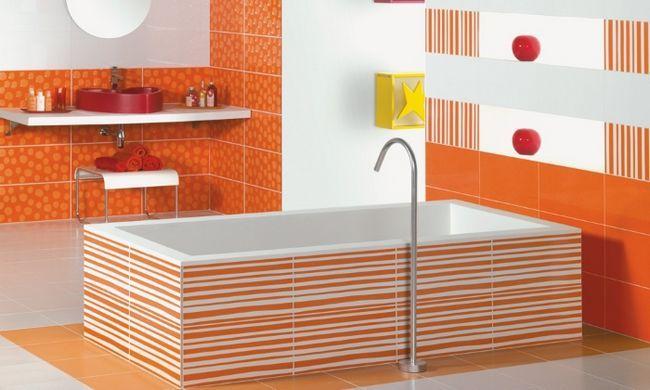 Використання в ванній кімнаті яскравих кольорів