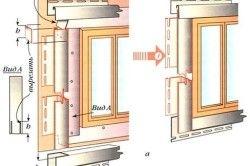 Обрамлення віконних і дверних прорізів J-профілями.