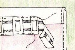 Схема пришивання шторної стрічки