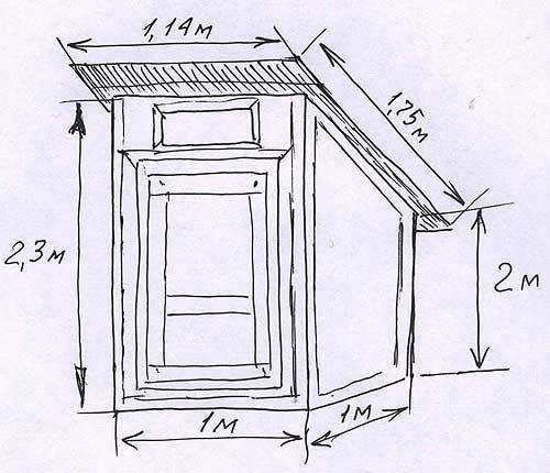Креслення будиночка для туалету