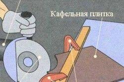 Схема різання кахельної плитки болгаркою