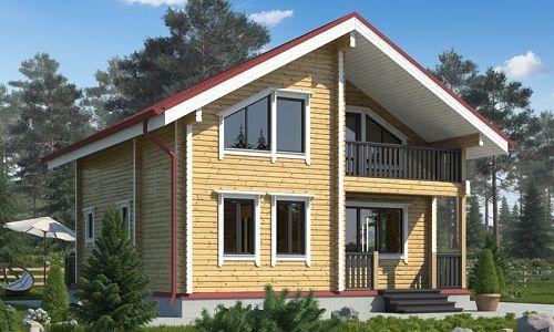 Фото - Особливості будівництва будинку з сухого профільованого бруса