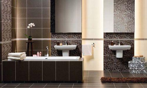 Фото - Особливості технології оформлення ванної кімнати плиткою
