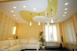 Дизайн стелі з освітленням