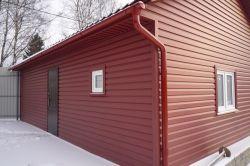 Монтаж стін гаража з профнастилу