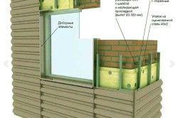 Схема облицювання фасаду профнастилом.