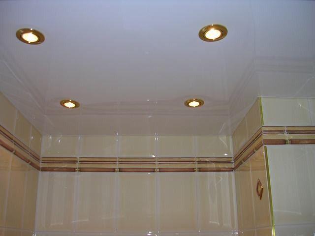 Фото - Оздоблення стелі в ванній