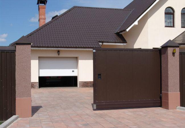 Фото - Відкатні ворота - конструкція і пристрій