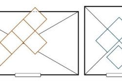 Схема укладання плитки по діагоналі