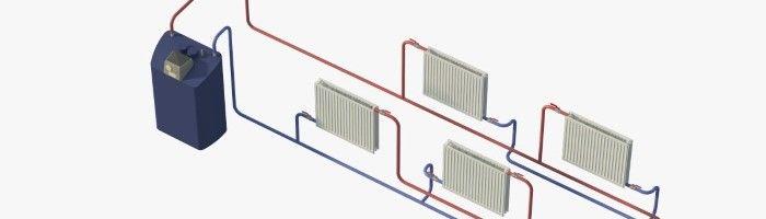 Фото - Опалення приватного будинку: двотрубна система