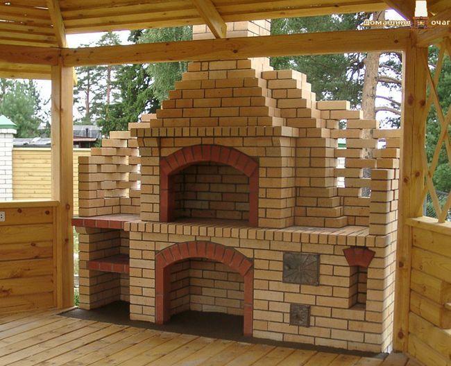 Фото - Піч барбекю: зведення фундаменту, будівництво