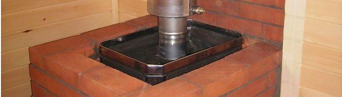 Фото - Піч з цегли з котлом для опалення приватного будинку