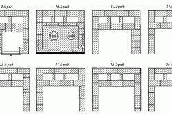 Схема порядовки печі: 9-16 ряд.