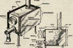 Схема пристрою саморобної печі тривалого горіння