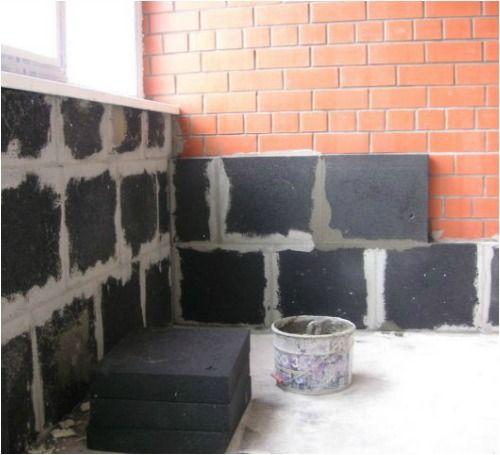 Утеплення цегляних стін піносклом
