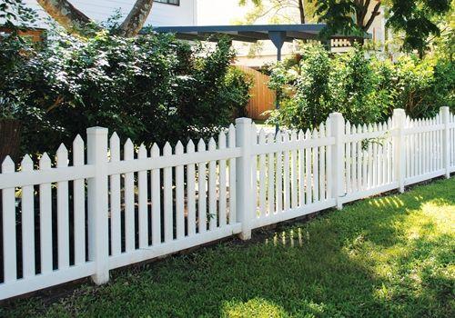 Білий пластиковий паркан фото
