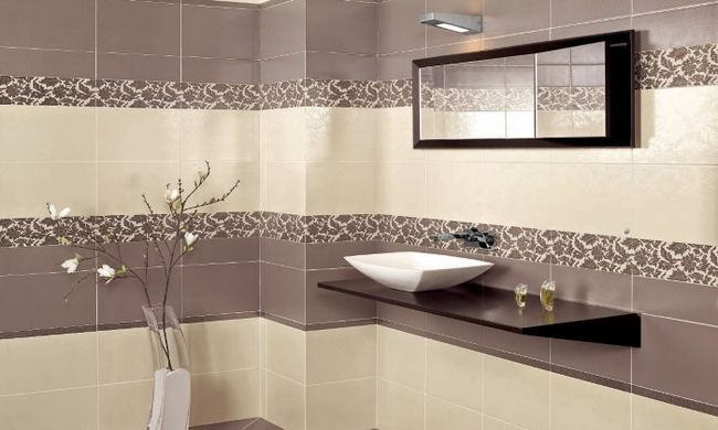 Дизайн ванної керамічною плиткою