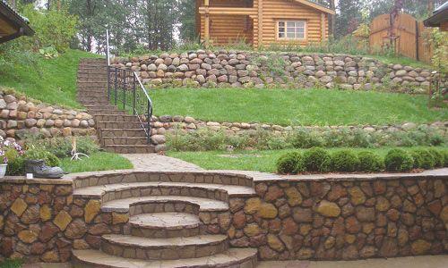 Ландшафтний дизайн із застосуванням терас на схилах