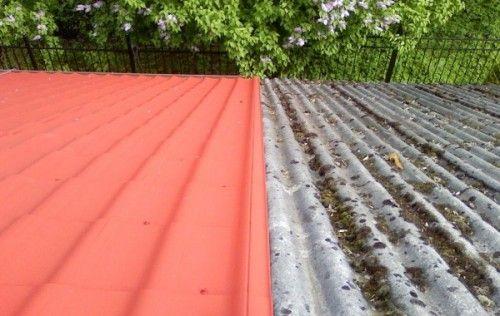 фарбування даху будинку