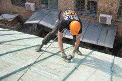 Шліфування даху перед фарбуванням