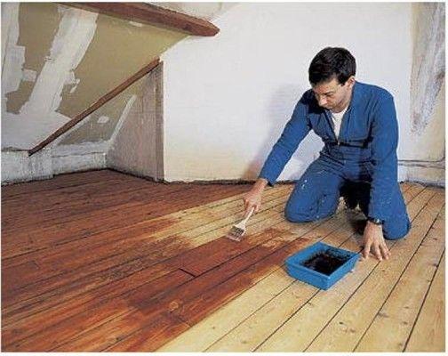 фарбування деревяної підлоги