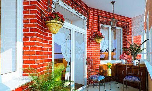 Фото - Фарбування стіни з цегли на балконі
