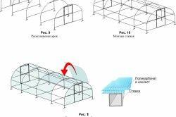 Схема покриття теплиці листами полікарбонату