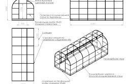 Схема конструкції теплиці з полікарбонату