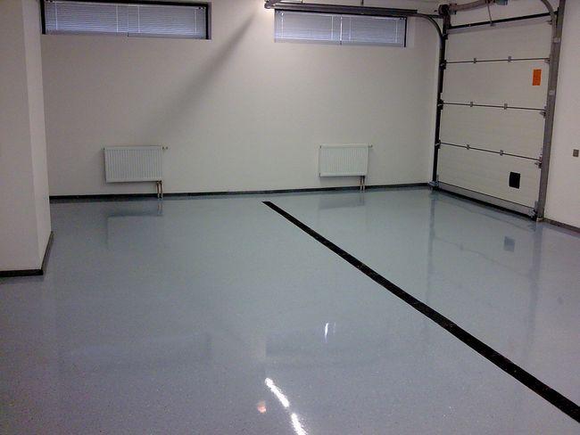 Фото - Полімерний підлогу в гаражі