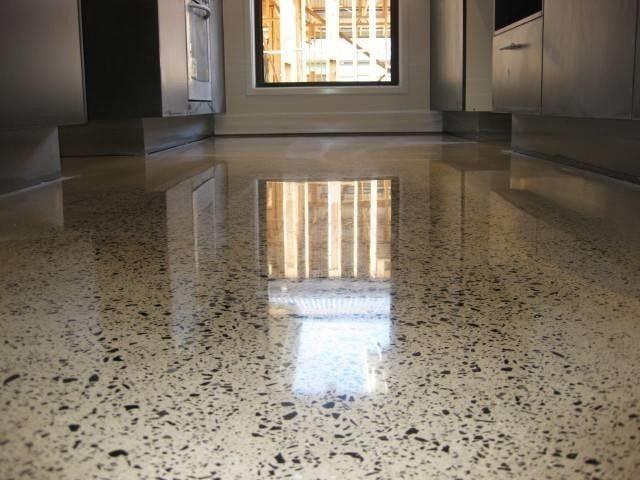 Полірування бетонної підлоги.