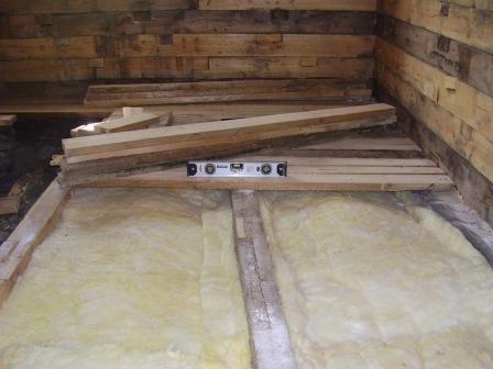 Фото - Підлоги з бруса в гаражі
