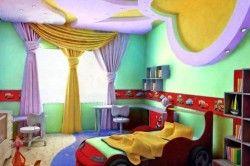 Дизайн стелі в дитячій