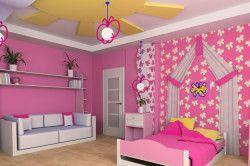 Дизайн дитячої з багаторівневою стелею
