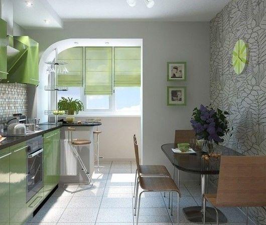 Фото - Правила приєднання лоджії до кухні