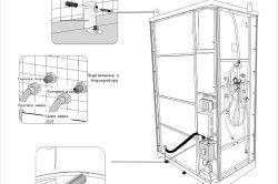 Схема підключення до водопроводу і герметизація душової кабіни