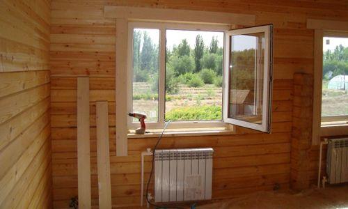 Фото - Правильна установка вікон в будинку з бруса