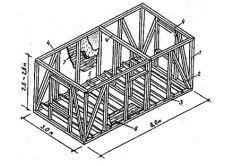 Монтажна схема деревяних стін веранди