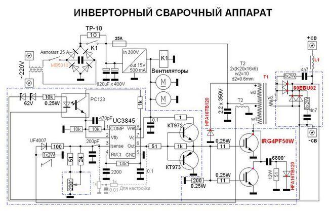 Інверторний зварювальний апарат схема