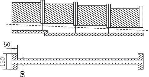 Схема укладання забору і фундаменту однієї секції
