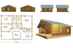 Схема-проект лазні з терасою